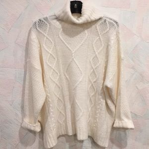 aerie Sweaters - NEW Aerie Oversized Cable Turtleneck Sweater